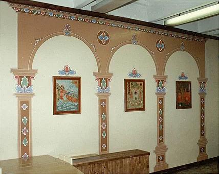 Музыкально-эстетический центр Аллегро, стенная роспись