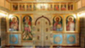 Иконостас храма Св. Горгия Победоносца в Кайтайнен