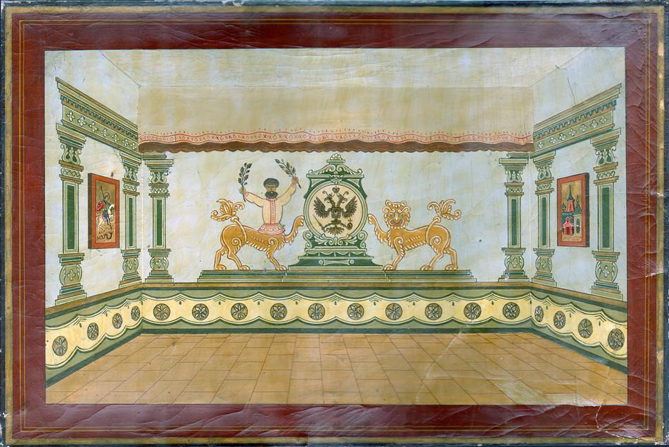Эскиз росписи комнаты отдыха