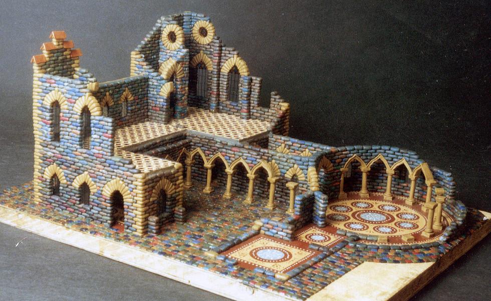 Недостроенный пластилиновый замок