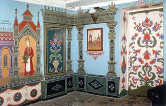 Стенная роспись в клубе Самбо им. Латышева