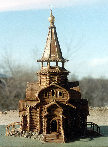 Эскиз деревянного храма