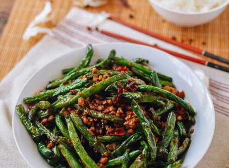 Dry fried Green Beans with Chilli
