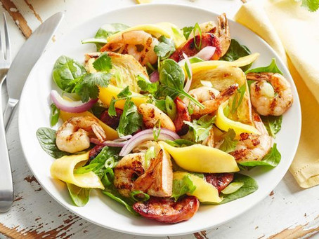 Prawn, Mango and Chorizo Salad