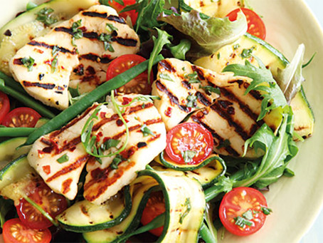 Chicken and Haloumi Salad