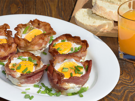 Baked Ham and Egg Cupcakes
