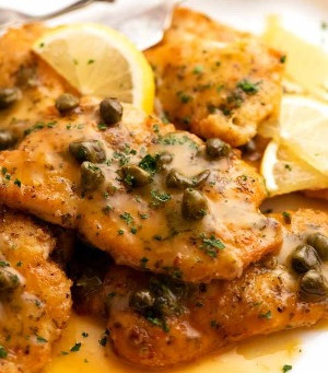 Chicken Picatta with zesty lemon sauce