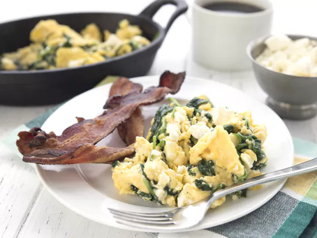 Spinach and Fetta Breakfast Scramble