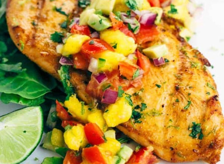 Tequila Lime Chicken with Mango Salsa