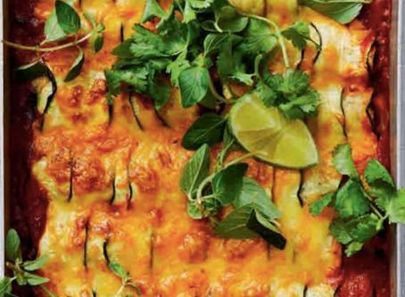 Zucchini Enchilada Tray Bake