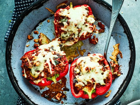 Mediterranean Turkey Stuffed Peppers