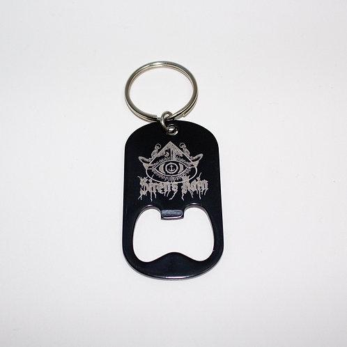 Dog tag opener keychain