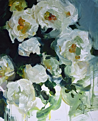 White Roses II, 24x24 inches