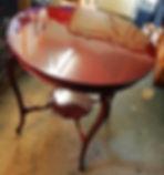 Refinished Edwardian mahogany table