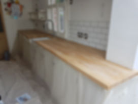 Kitchen Surface Stripped