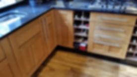 refinished oak kitchen units