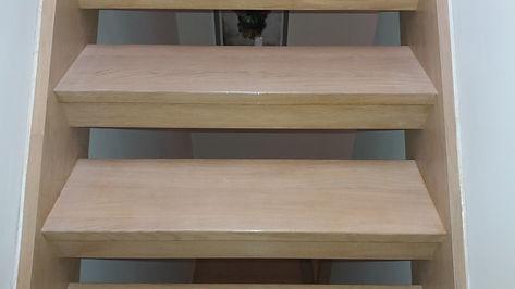 Oak Staircase French polishing bromley