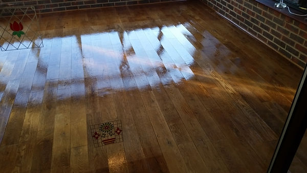 Polished Oak Floor in Tunbridge Wells