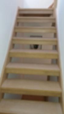 Prepared stairs
