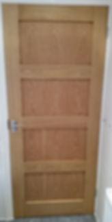 Finished Oak Door