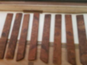stripped & clean car wood trim
