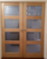 Lacquerd doulble conference doors