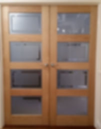 light ash double conference doors