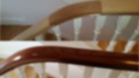 Before & after refinished hand rail