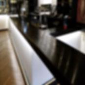 Ebonised / Ebonized bar top