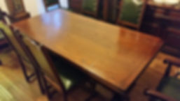 refinished oak kitchen table