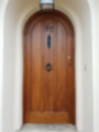Finished stained oak door