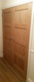 Lacquered Oak Door