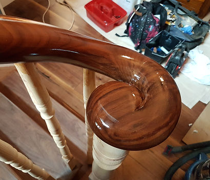 French Polishing Walnut Rails