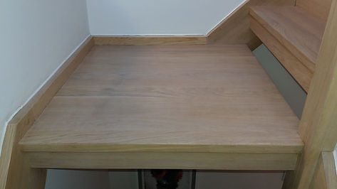 Oak Staircase French polishing blackheath