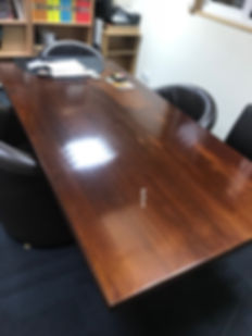 rosewood table before pic