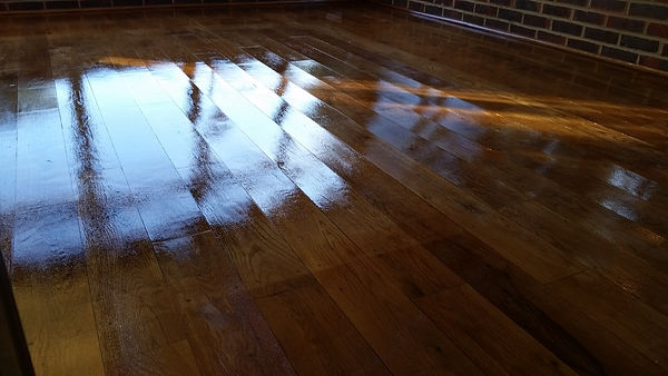 Polished Oak Floor in Bickley
