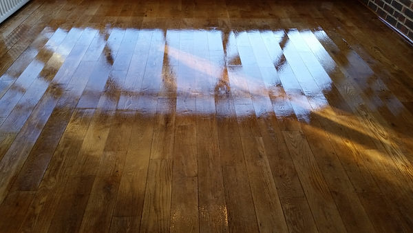 Polished Oak Floor in Sevenoaks