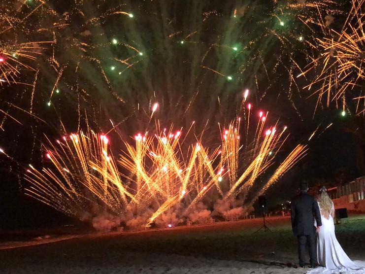 Spettacoli piromusicali Matrimonio in spiaggia
