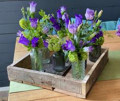 rustikale Blaue Tischdekoration