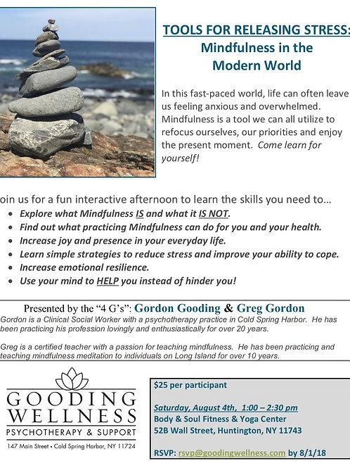 Mindfulness Workshop 8/4/18