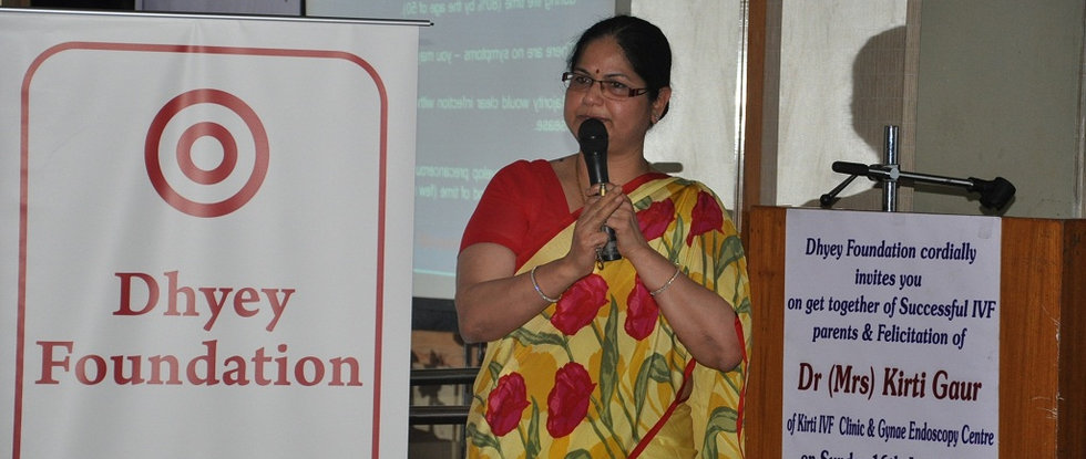 Dr Kirti Gaur at Dhyey Foundation