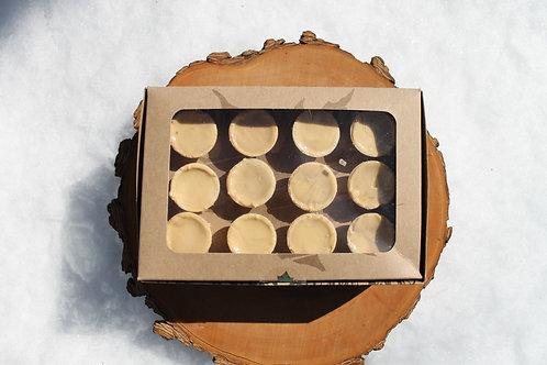 Boîte de douze cornets de sucre (sucre uniquement)