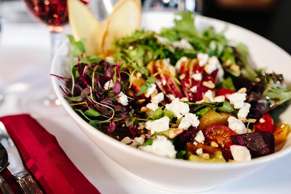 Salade maison betteraves et chèvre