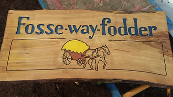 Business sign, wooden sign, chestnut sign, local business sign, countryside business