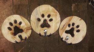 Paw prit coat, hat hooks, lead hooks, dog themed wooden homewear,