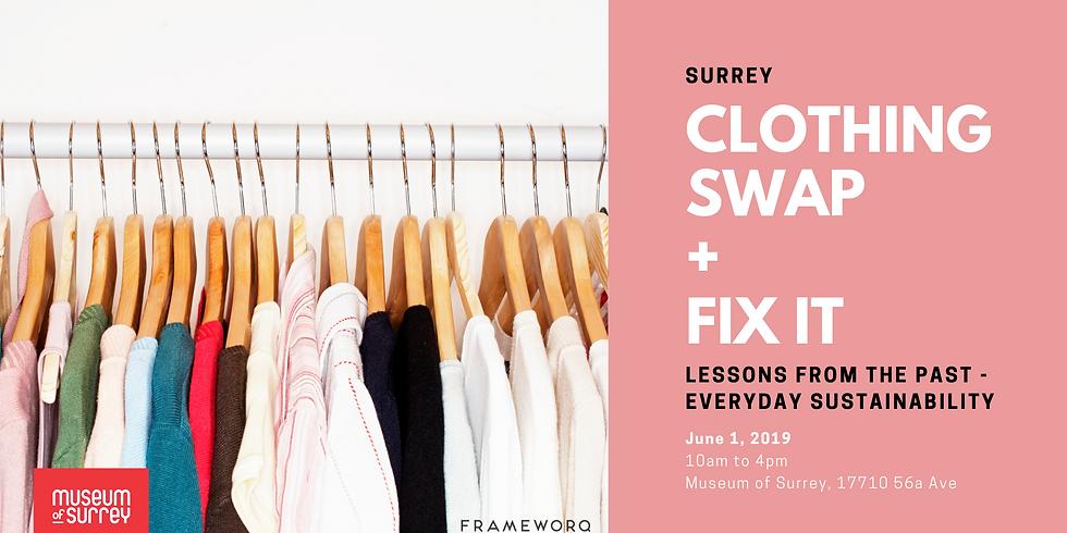 Museum of Surrey   Clothing Swap & Fix
