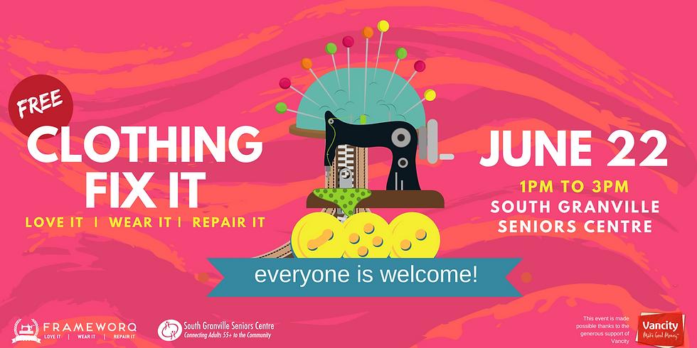 June Fix It   South Granville Seniors Centre