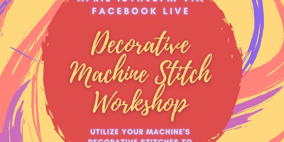 Decorative Machine Stitch Workshop