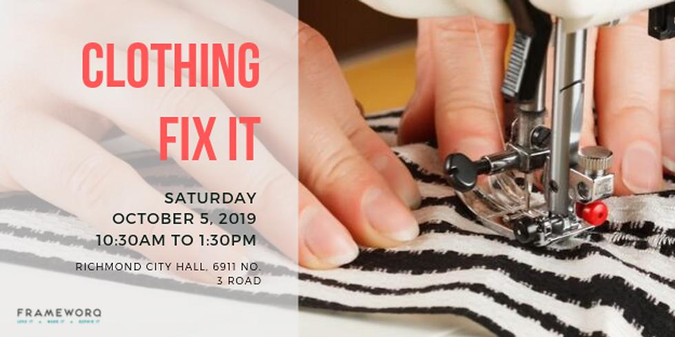 Clothing Fix it @  Richmond City Hall