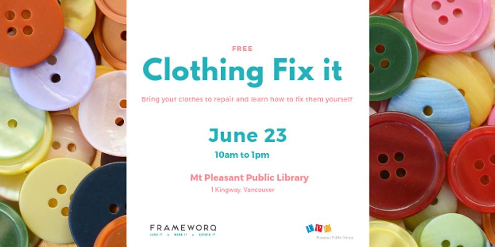 June 2019 Fix It | Mt. Pleasant Library, Vancouver